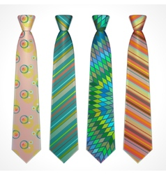 Set of colorful neckties vector