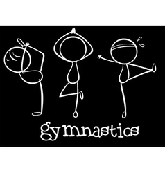 Three gymnasts vector