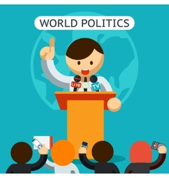 Cartooned world of politics concept vector