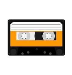 Orange cassete vector image