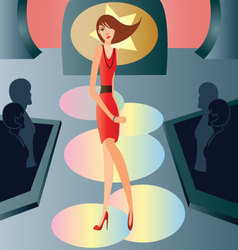 Catwalk-fashion vector