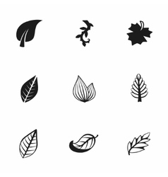 Leaf icon set vector