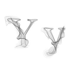 Black Smoke font Letter Y vector image