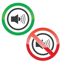 Loud sound permission signs vector