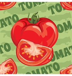 Seamless pattern of ripe red tomato vector
