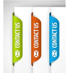 Contact us labels vector