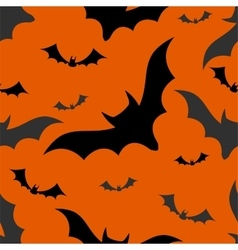 Halloween bats seamless pattern vector