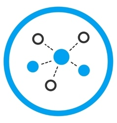 Virtual Links Icon vector image