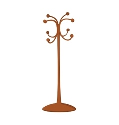 Wooden coat rack cartoon icon vector