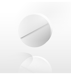 The white close up tablet vector