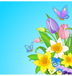 Easter bouquet vector
