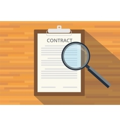 Read full contract on clipboard vector