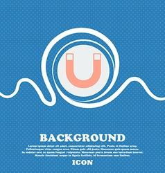 Magnet sign icon horseshoe it symbol repair sig vector