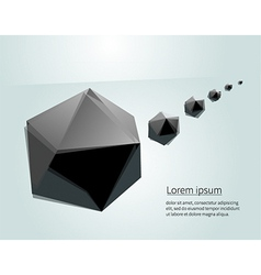 Black figures vector image
