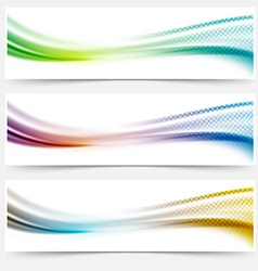 Bright smooth abstract swoosh dotted line header vector image vector image
