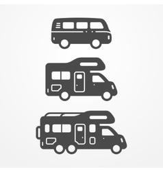 Camping van set vector image vector image