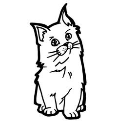 cartoon Cat Coloring Page vector image vector image