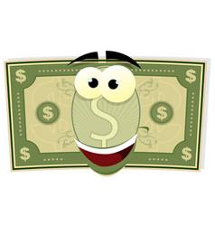 Cartoon us dollar character vector