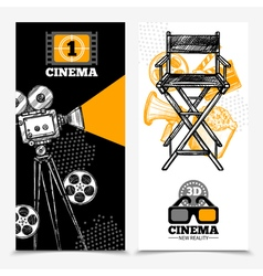 Cinema vertical banners vector