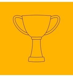 Cup line icon vector