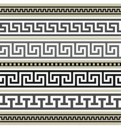 Greek borders collection vector