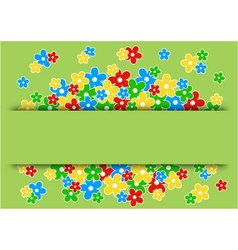 greeting card with colored flowers vector image vector image