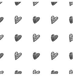 hand drawn hearts pattern vector image