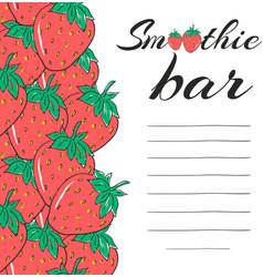 hand drawn restaurant menu elements smoothie bar vector image