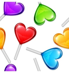 Heart Lollipops Pattern vector image