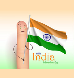 India independence day finger poster vector