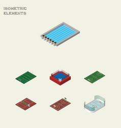 Isometric competition set of soccer fighting vector