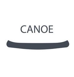 Monochrome canoe isolated on vector