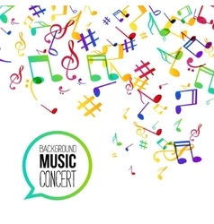 Music background Musical background with musical vector image vector image