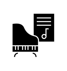 music - piano - music notes icon vector image vector image