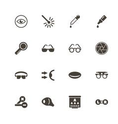 optometry - flat icons vector image