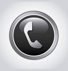 Phone button design vector
