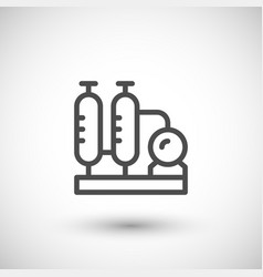 refinery plant line icon vector image vector image