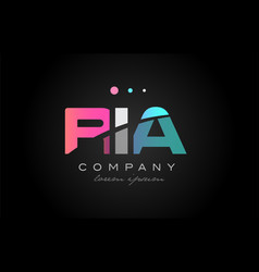 ria r i a three letter logo icon design vector image