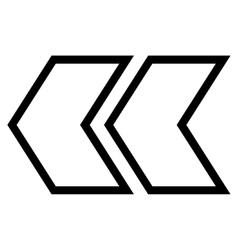 Shift left contour icon vector