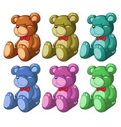 Six bears vector image vector image