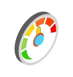 Speedometer icon isometric 3d style vector image