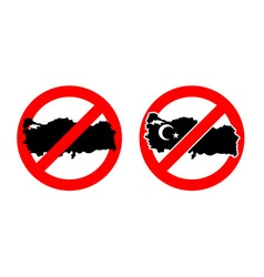 Stop Turkey Ban for Turkish State Ban for Turkish vector image