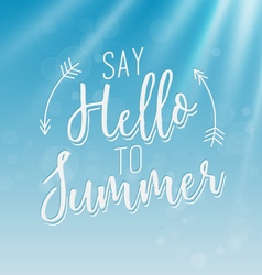 Summer calligraphic design in vintage style vector