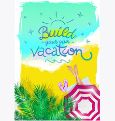 Summer poster for travel agency vector