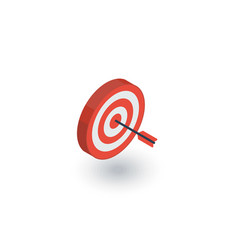 target goal success marketing concept arrow vector image vector image