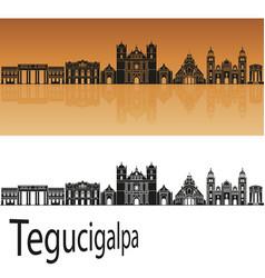 Tegucigalpa skyline vector
