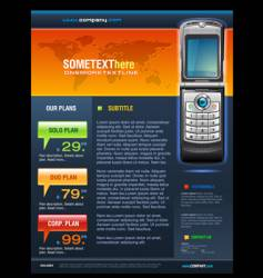 telecom brochure vector image vector image