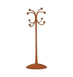 Wooden coat rack cartoon icon vector
