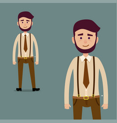 young male bearded cartoon character vector image vector image