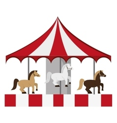 Pretty carousel icon vector